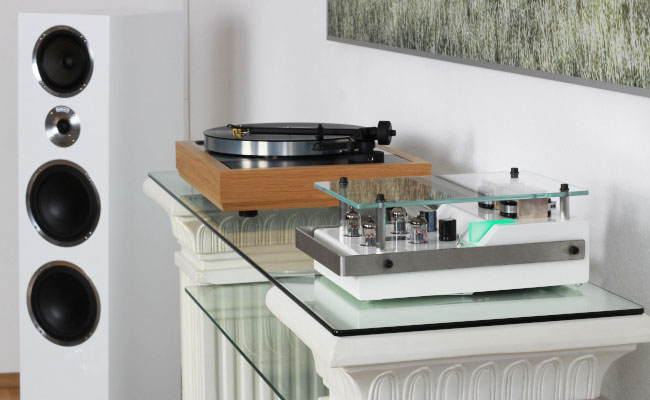 perfection one: audio system with record player