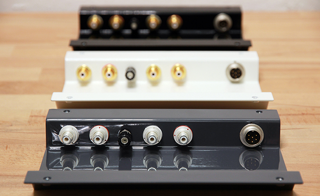 pre-amplifier in different varnishings
